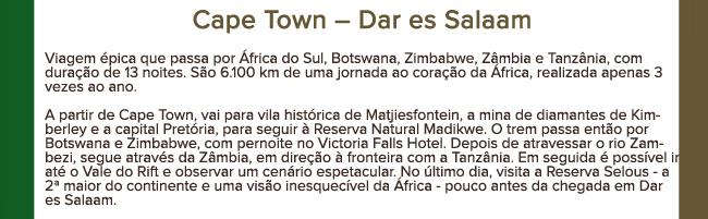 Cape Town - Dar es Salaam