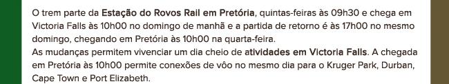 Estação do Rovos Rail em Pretório